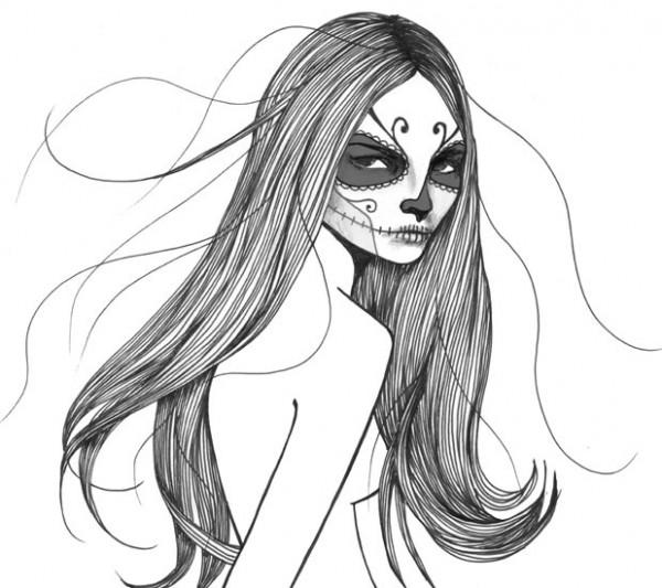Красивые нарисованные девушки 8